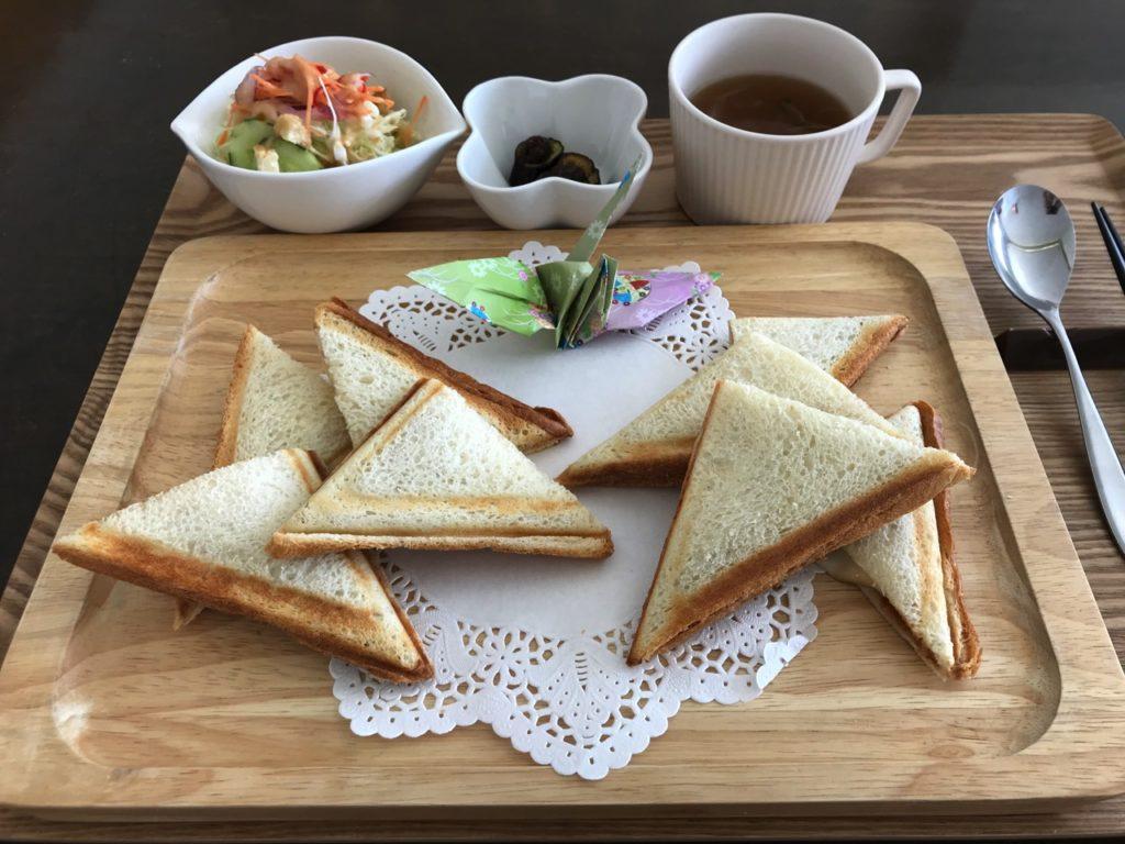宮崎県立美術館 喫茶室「ぴあアート」ホットサンド