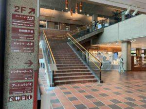 富野由悠季の世界展の会場は2Fです。